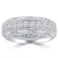 2.50 ct Ladies Round Cut Diamond Eternity Wedding Band Ring With
