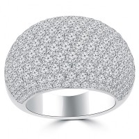 5.25 ct Ladies Round Cut Diamond Anniversary Ring