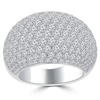 5.25 ct Ladies Round Cut Diamond Anniversary Ring
