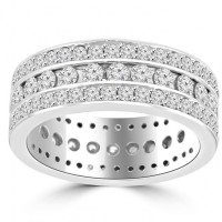 3.75 ct Ladies Round Cut Diamond Eternity Wedding Band Ring