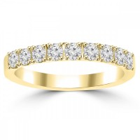 0.72ct Ladies Round Cut Diamond Wedding Band in 14 kt Yellow Gold