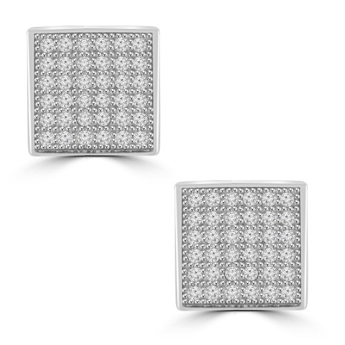 0.72 ct Round Cut Cubic Zirconia Stud Earrings in Screw Back