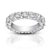 4.00 ct Ladies Round Cut Diamond Eternity Wedding Band Ring