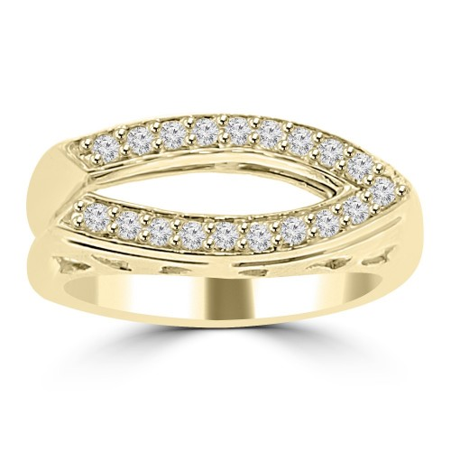 0.28 ct Ladies Round Cut Diamond Anniversary Wedding Band Ring ( G Color SI-1 Clarity) in 14 kt Yellow Gold
