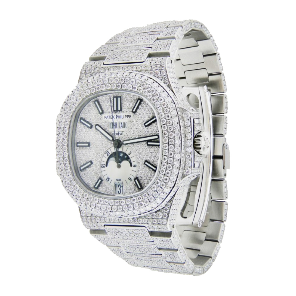 Patek Philippe Nautilus Iced Out With Diamonds