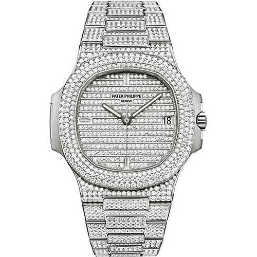 Patek Philippe Ladies Nautilus Iced Out Watch