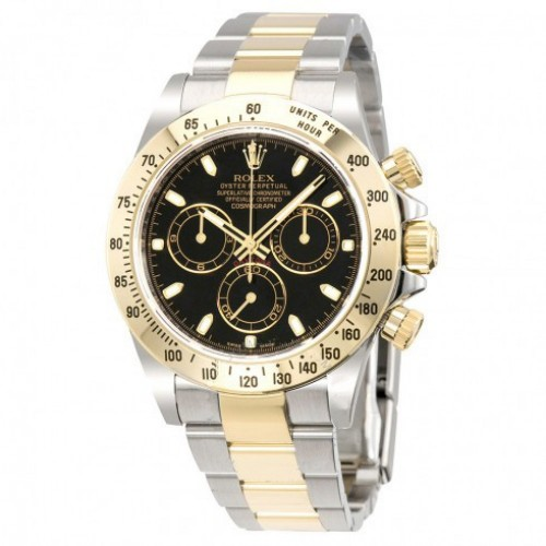 Cosmograph Daytona Black Dial Stainless steel and 18K Yellow Gold Oyster Bracelet Automatic Men's Watch