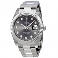 Datejust 41 Rhodium Diamond Dial Automatic Men's Watch