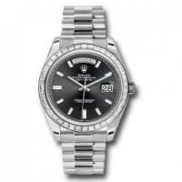 Day Date 40 Platinum Diamond Bezel Watch
