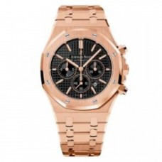 Audemars Piguet Royal Oak Chronograph Black Dial 41mm 18k Pink Gold Watch 26320OR.OO.1220OR.01