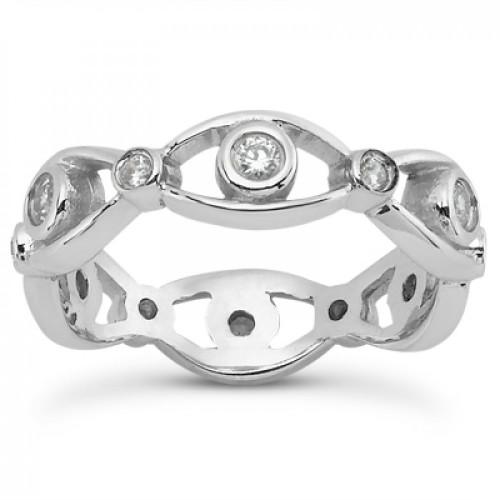 0.70 ct Ladies Round Cut Diamond Eternity Wedding Band Ring