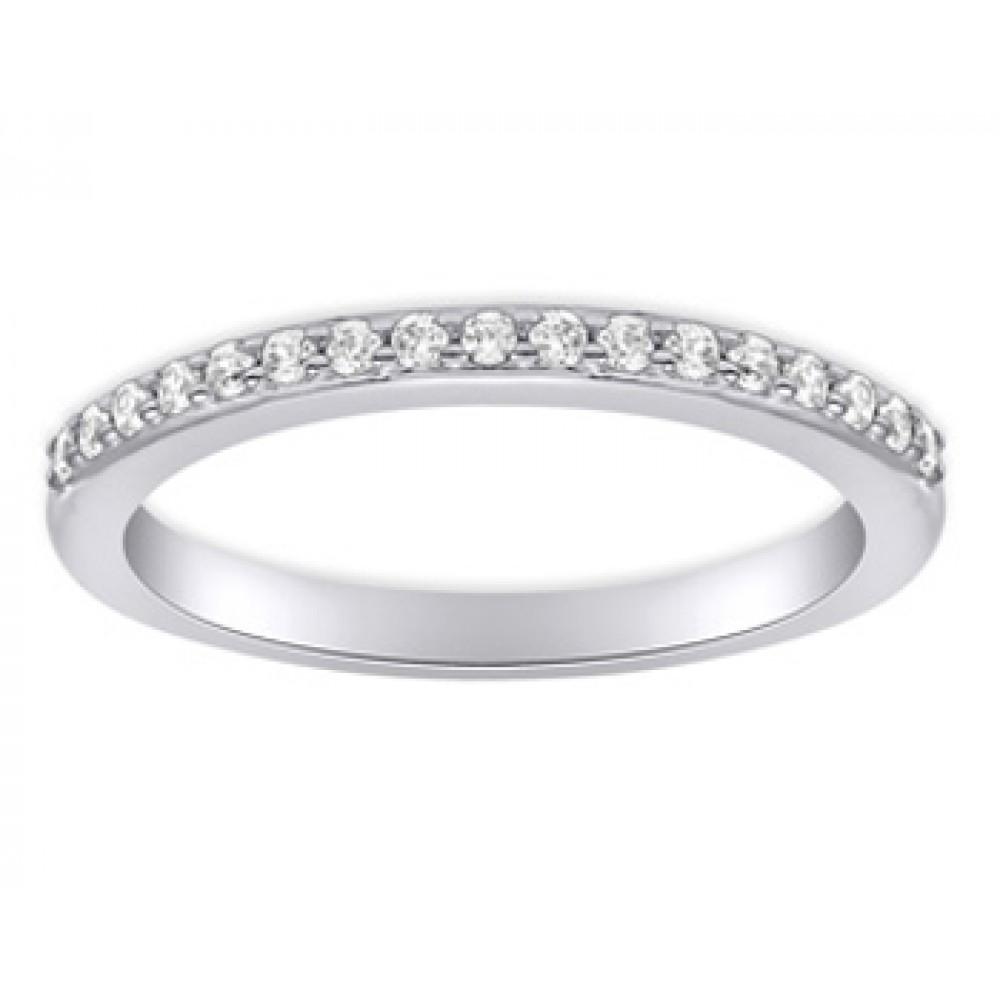 Round Bands: 0.40 Ct Ladies Round Cut Diamond Wedding Band Ring