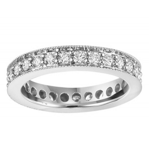 1.15 ct Ladies Round Cut Diamond Eternity Wedding Band Ring