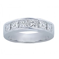 1.00 ct Princess Cut Diamond Wedding Band Ring