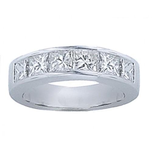 1.00 ct Princess Cut Diamond Wedding Band Ring