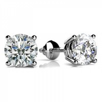 0.80 ct Round Cut Diamond Stud Earrings