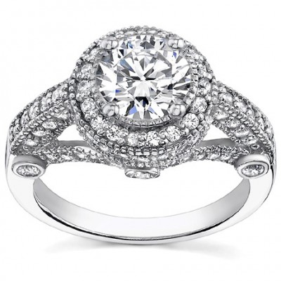 Madina Jewelry 2.25 ct Women's Antique Style Diamond Engagement Ring in 950 kt Platinum at Sears.com